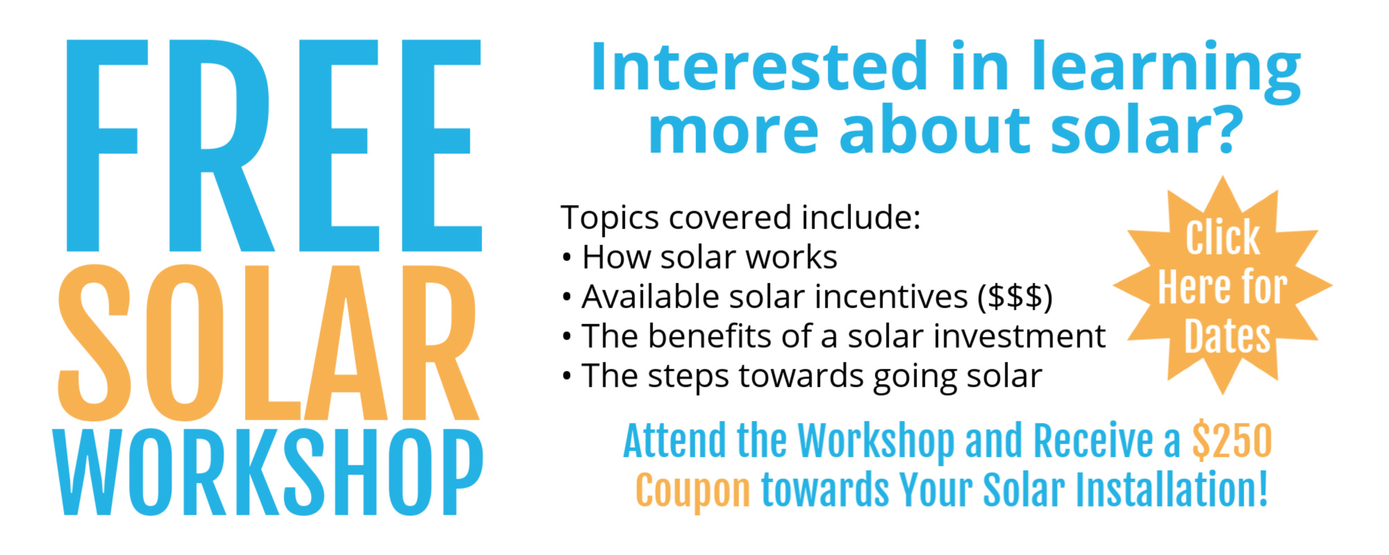 Free Solar Workshop